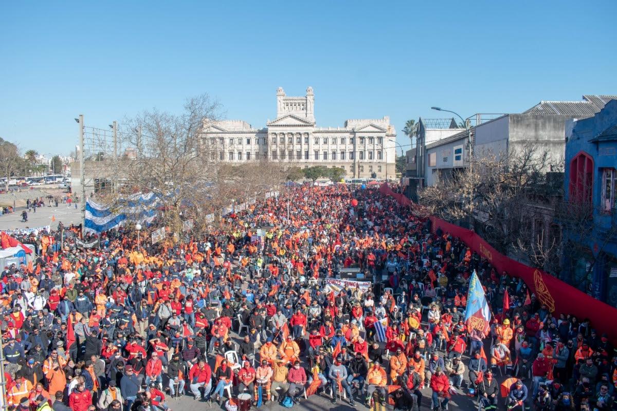 El SUNCA movilizó una multitud a pura conciencia sindical