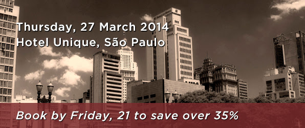 Thursday, 27 March 2014, Hotel Unique, São Paulo, Book now by Friday, 21 to save over 35%.