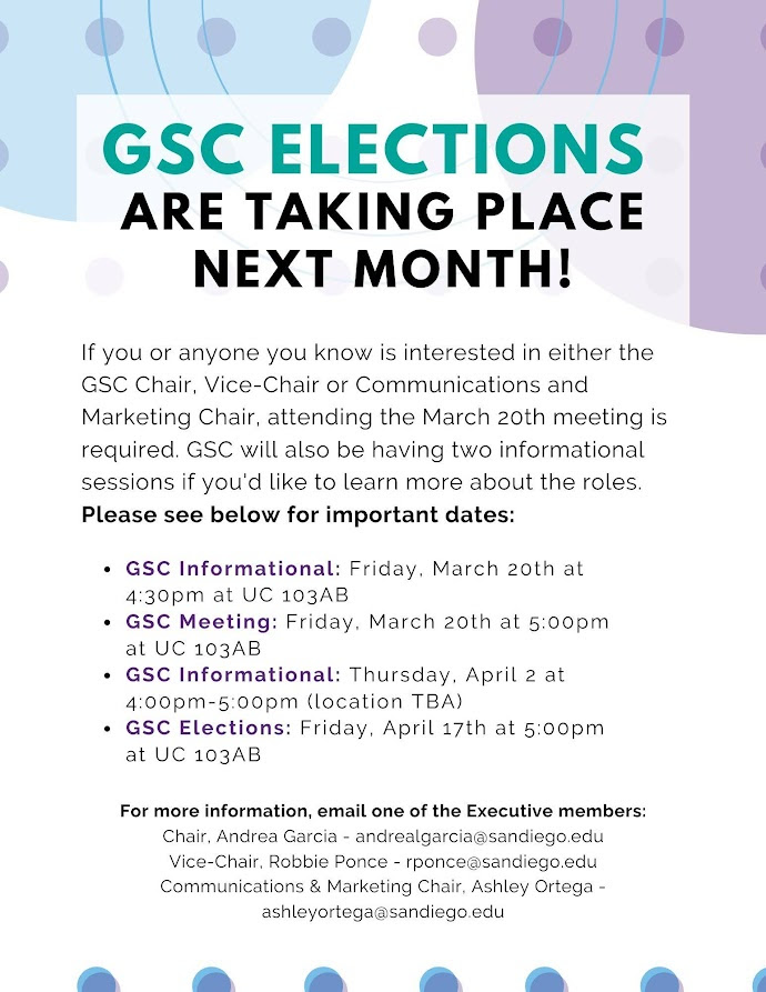 Upcoming GSC Elections