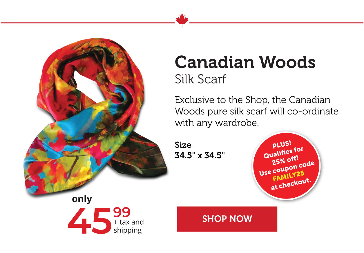 Canadian Woods Silk Scarf