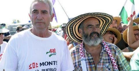 El exalcalde de Marinaleda Sánchez Gordillo y Diego Cañamero. EFE