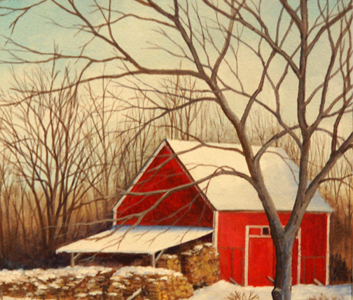'Red Barn' by Twila Robar-DeCoste at Visual Voice Fine Art