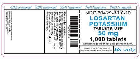 """""""Losartan potasio comprimidos, USP 50 mg, 1000 comprimidos"""""""