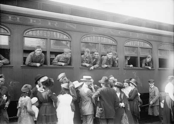 Những người lính Mỹ quay trở về nhà từ chiến tranh tại thủ đô Washington.