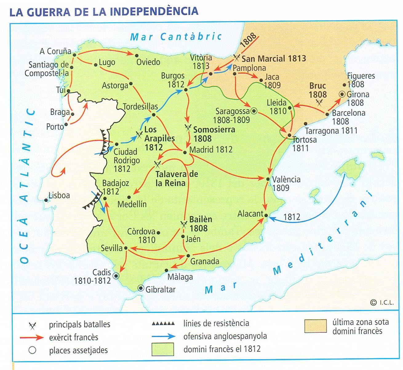 La guerra d'Independència espanyola - Quins van ser els ...