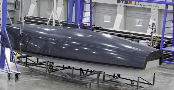 J/9 daysailer hull mold