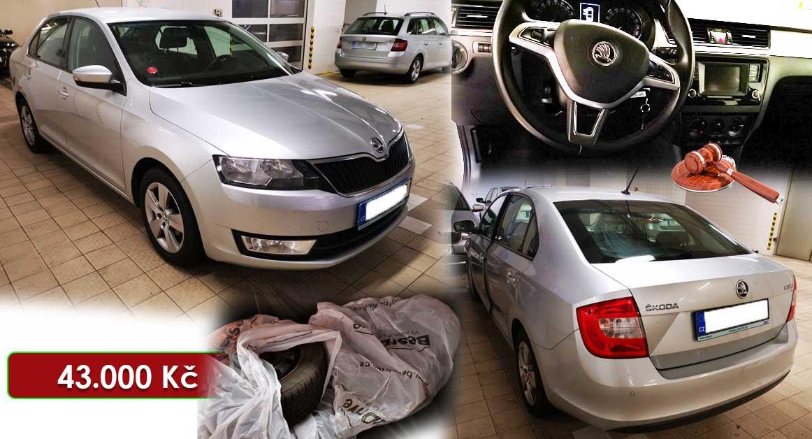 Do 23.7.2020 Aukce automobilu Škoda Rapid 1,4 TDI. Vyvolávací cena 43.000 Kč, ➡️ ID732425