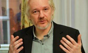 18/08/2014 - Julian Assange durante una conferencia de prensa en la embajada de Ecuador en el centro de Londres el 18 de agosto de 2014 | REUTERS/ John Stillwell