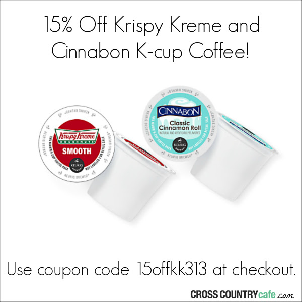 Krispy Kreme and Cinnabon Keurig Kcup coffee sale