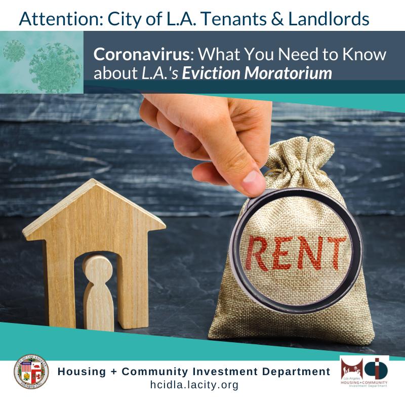 HCIDLA Eviction Moritorium Info