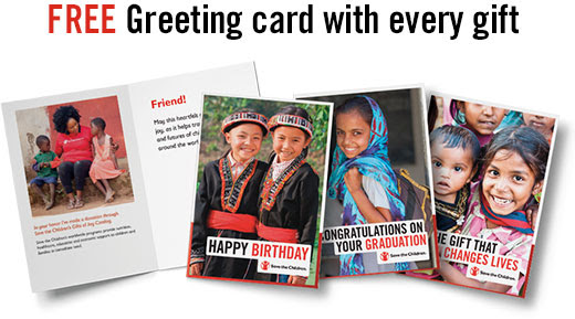 Free  greeting card with every gift.