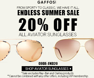 20% OFF for All Aviator Sungla...