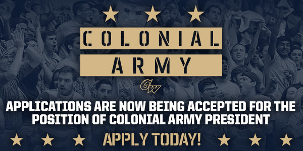 Wanna be the Colonial Army President? GW is taking applications