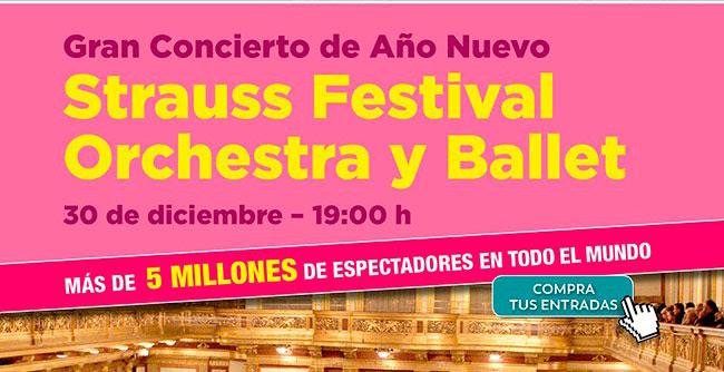 Gran Concierto de Año Nuevo. Strauss Festival Orchestra y Ballet. 30 Diciembre 19H