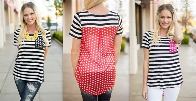*HOT* Stripes and Polka Dot To...