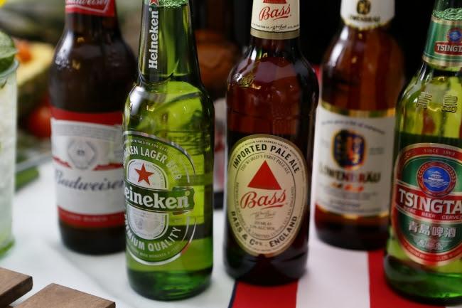 生ビールを含む10種のビールが勢揃い