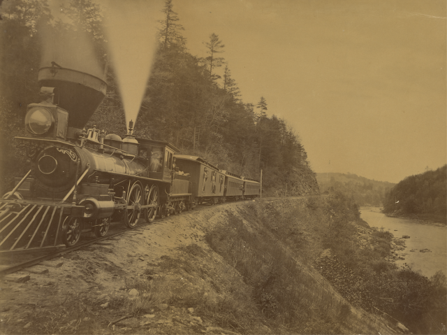 1870 Train on a Railroad