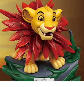 THE LION KING MASTER CRAFT MC-012 LITTLE SIMBA STATUE