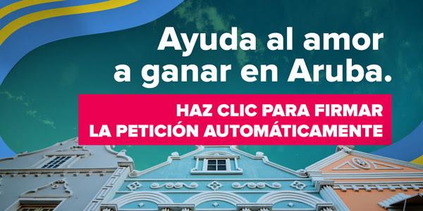 Ayuda al amor a ganar en Aruba.