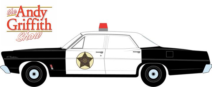 44760-B 1:64 Hollywood Series 16 ft. a 1967 Ford Custom Police Car – The Andy Griffith Show