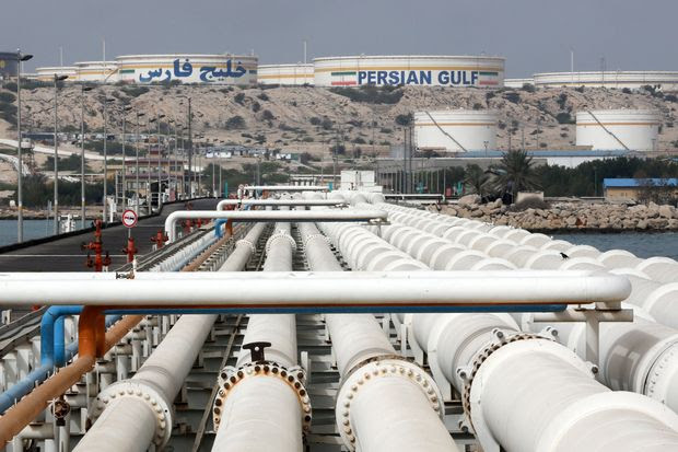 The Kharg facility on the Persian Gulf in southern Iran handles most of the country's oil exports.