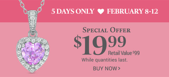 Buy this 7.0mm Heart-Shaped Lab-Created Pink and White Sapphire Frame Pendant in Sterling Silver for $19.99. Limited time only.