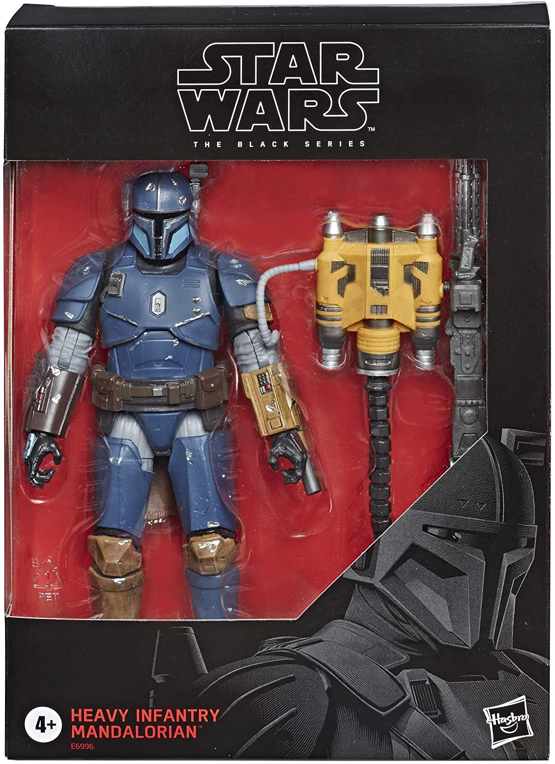 Image of Star Wars The Black Series Heavy Infantry Mandalorian Toy 6-inch Scale The Mandalorian Collectible Deluxe Action Figure, Kids Ages 4 and Up