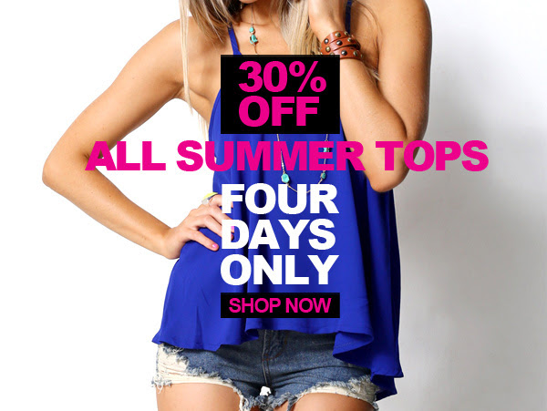 Save 30% OFF All Summer Tops + Free Shipping On All International Orders $100 at Supre.com.au
