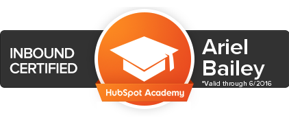 a HubSpot certification looks like this