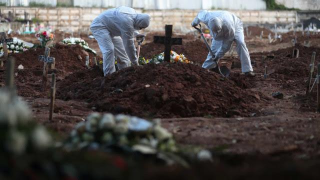 Brasil registra 2.545 mortes por Covid em 24 h e média móvel fica abaixo de 2.000
