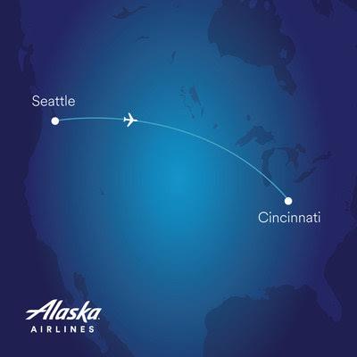 Alaska Airlines announces daily nonstop service between Seattle and Cincinnati