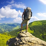 Man on Mountain Top