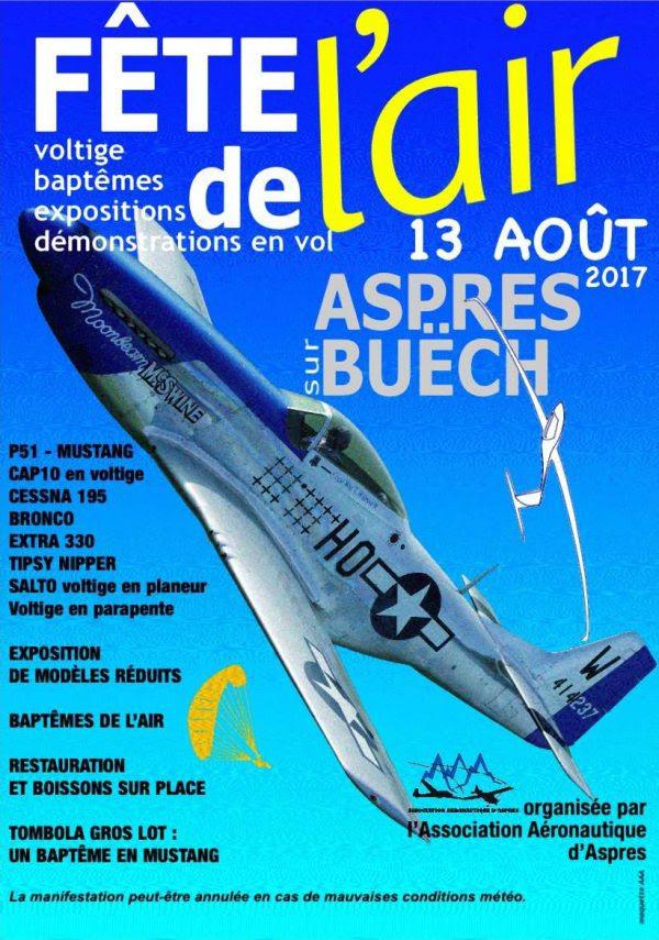 13 août 2017 : Fête de l'Air à Aspres sur Buëch