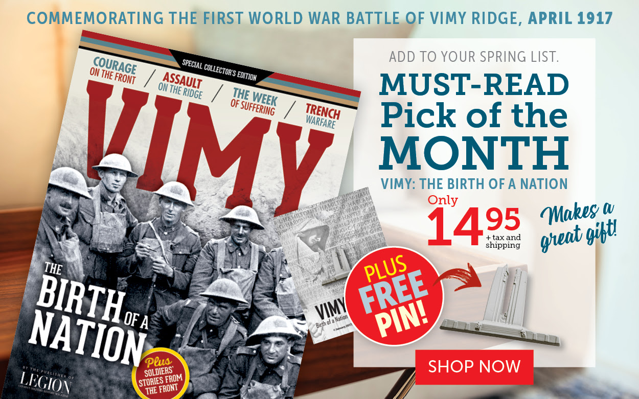 Must-Read Pick of the Month for April - Vimy Ridge