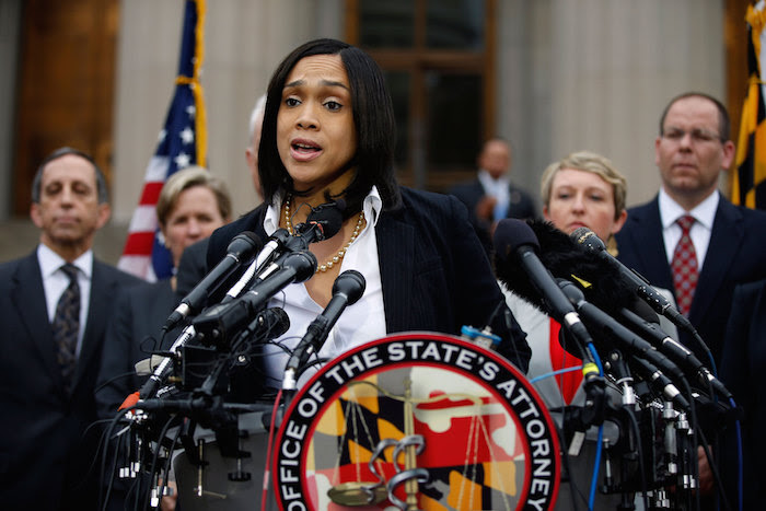 Marilyn Mosby announces charges against the 6 officers