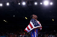Jordan Burroughs after winning gold at the 2012 Olympics in London. He stands to receive $500,000 from a fund established by former wrestlers if he can successfully defend his title at the Rio Games.