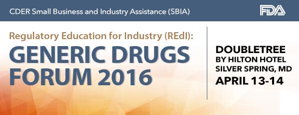 REdI Generic Drugs Forum