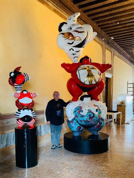 Sumo Totem Vision - opera di Arnaud nazare Aga alla Biennale di venezia