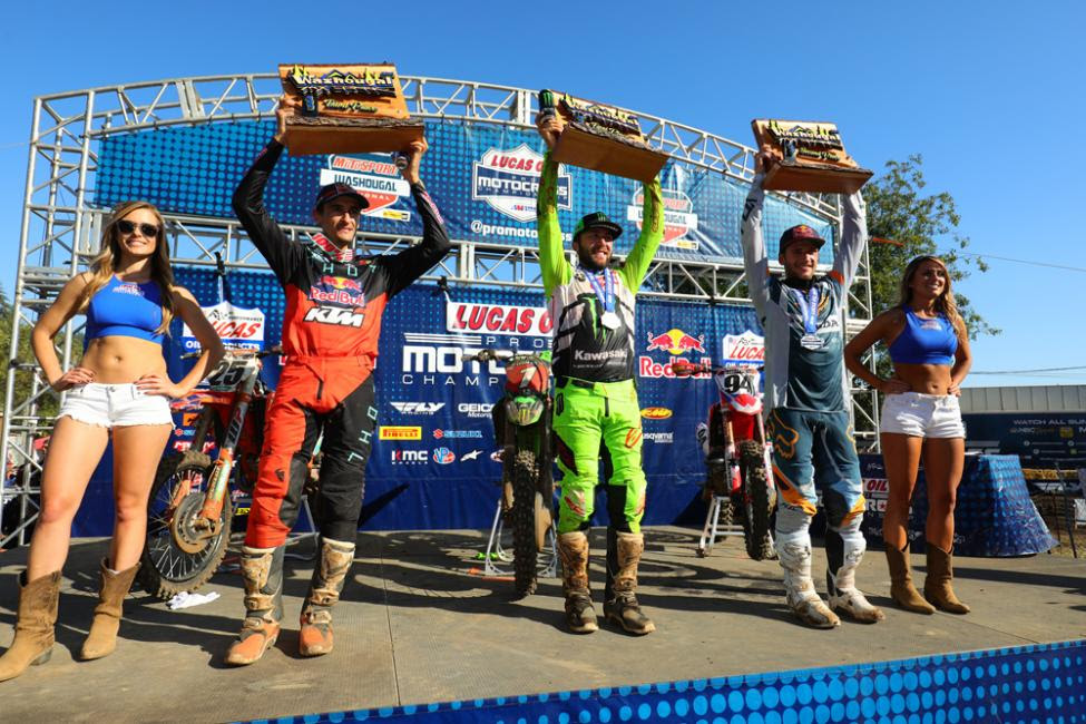 The 450 Class overall podium.