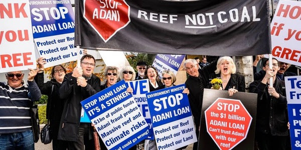 Picture of the Kooyong #StopAdani group