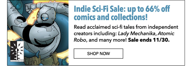 Indie SciFi Sale: up to 66% off! Ends 11/30.