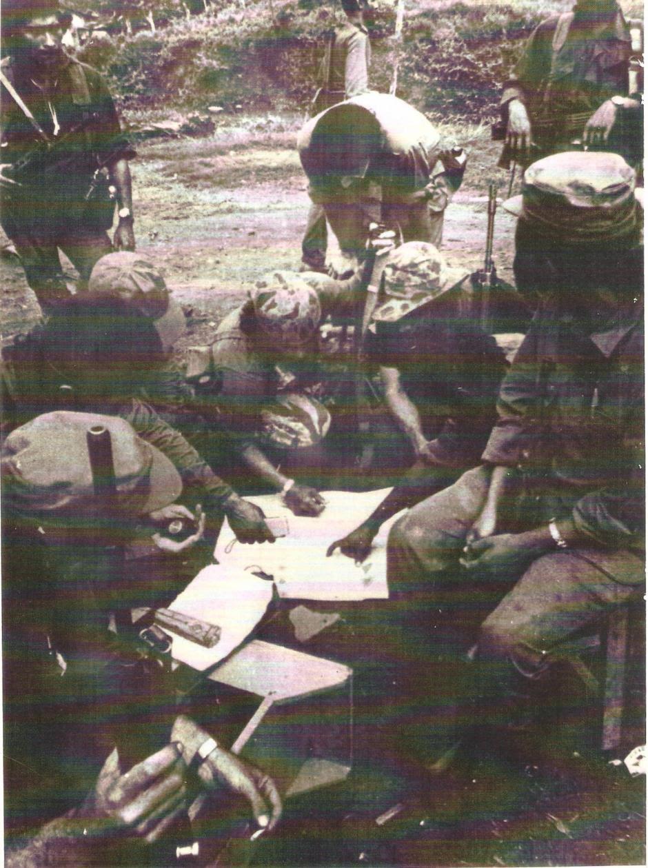 El Frente Sur inició la ofensiva con uno 900 hombres y terminó siendo un ejército de 2,500 combatientes.