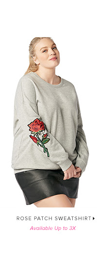 Shop ROSE PATCH SWEATSHIRT