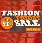 Flat 50% off on on cart value of Rs.1599 & above