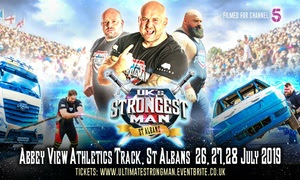 UK's Strongest Man: Child (£9); Adult (£22)
