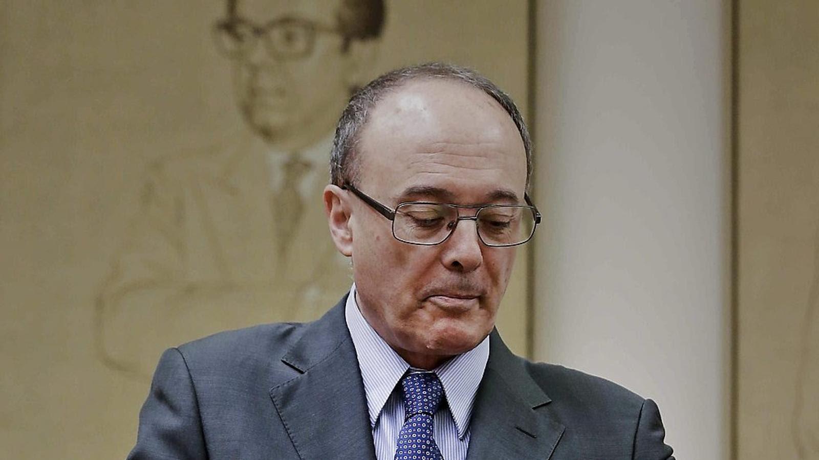 El governador del Banc d'Espanya, Luis María Linde, ha comparegut a la comissió del Pacte de Toledo. / EMILIO NARANJO / EFE