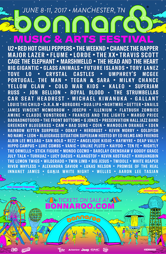 Bonnaroo 2017 Lineup on Bonnaroo.com