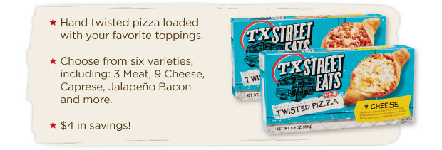 H-E-B Texas Street Eats Twisted Pizza