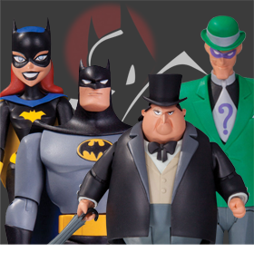 BATMAN THE ANIMATAED SERIES - BATMAN V2, BATGIRL, PENGUIN, RIDDLER