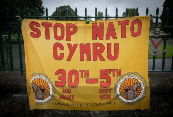 Protestas contra la cumbre de la OTAN en Gales 9